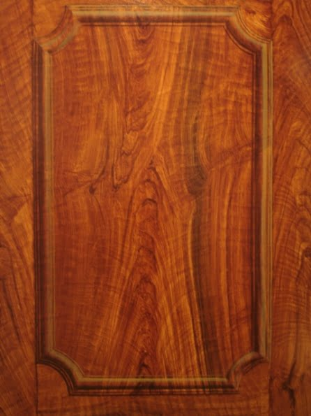 A Walnut Wood Grain Trompe Loeil Door