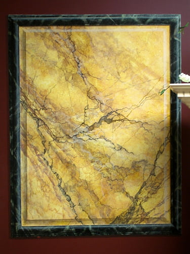 Painted panel faux marble