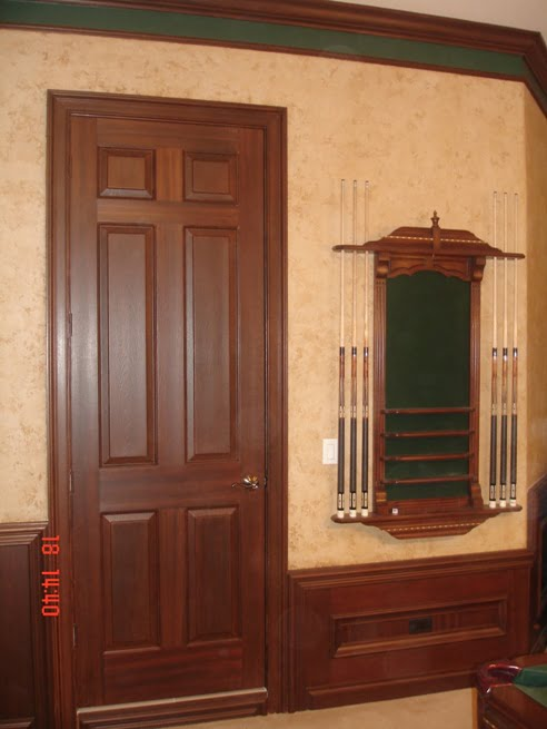 Faux painted Mahogany wood grain