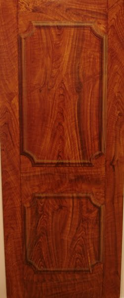 Faux walnut wood grain trompe loeil panel Naples Fl
