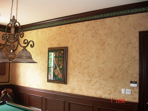 Faux Wall Finishes southwestern gameroom