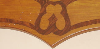 Faux wood grain inlay