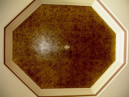 Dining Room Tray Ceiling Foil Faux Finish