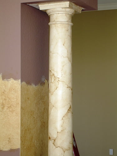 Marble Column Wall : Art faux wall designs how to paint marble