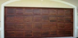 Wood grain garage doorsart faux wall art designs naples fl for Wood grain garage doors