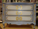 French country dresser faux finish