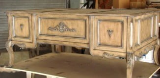 Old world faux finish distressed french ladys desk