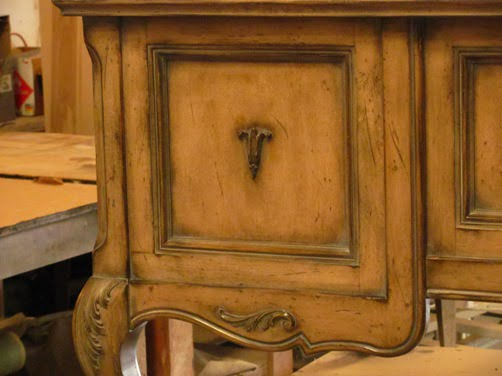 Charming Handmade Custom Built Distressed Faux Finished Furniture