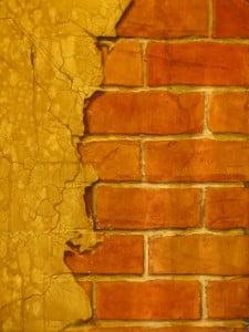 Break away faux brick finish