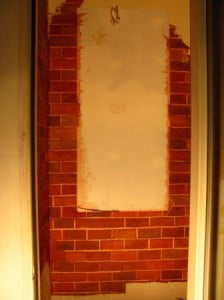 Old World Faux Brick Wine Room