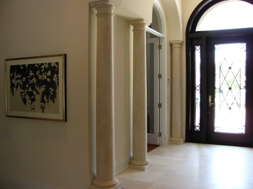 faux finished columns