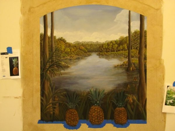 hallway mural by Art-Faux Designs 239 296 7966 call for shipping