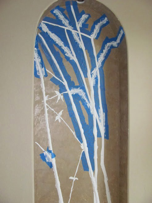 bas relief faux bamboo
