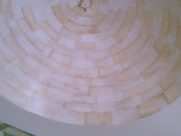 Starting bone ivory faux finish dome ceiling ideas