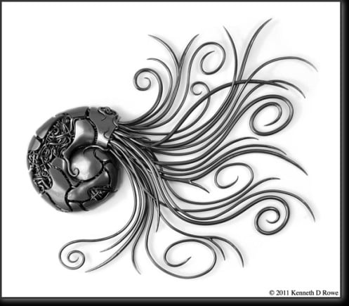 Wall Art Metal Sculpture by Kenneth D. Rowe Ft. Myers Tel: 239.223.8744