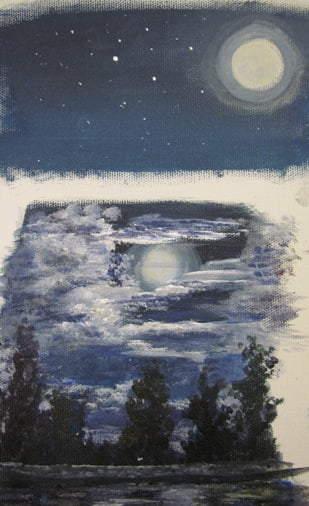 color study for nighttime paintings and wall murals