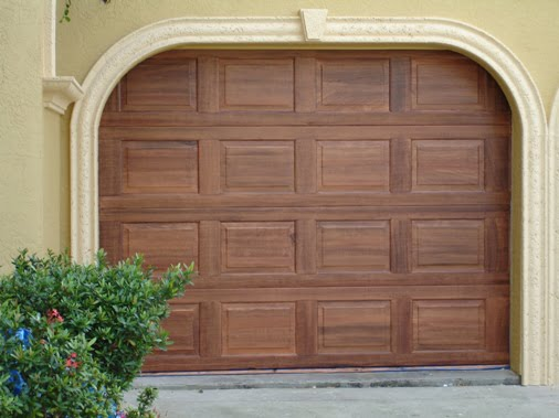 faux woodgrain metal garage door Art-Faux Designs 239 417 1888