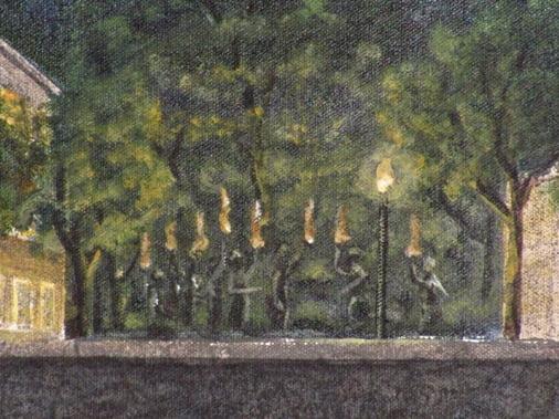 fine art mural (detail) acrylic on canvas artist Arthur Morehead