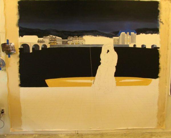 night time nocturnal fine art mural progression artist Arthur Morehead