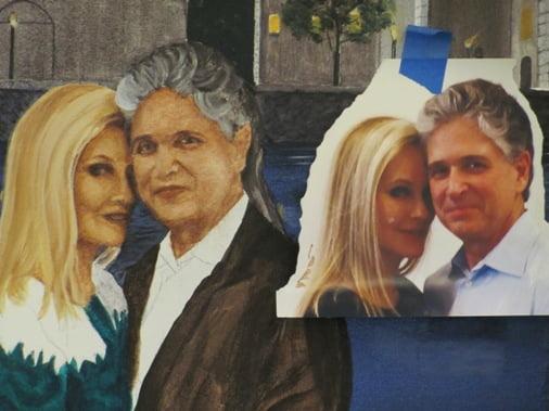 fine art portrait block in Naples Fl artist Arthur Morehead