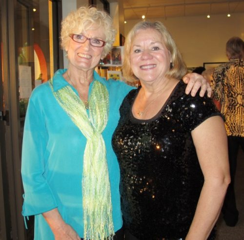 Marco Island artists Betty Newman and Judy Chinski at The Esplanade
