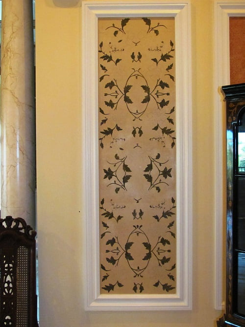 Floral wall mural in Naples Fl