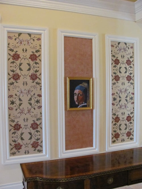Floral Wall Art Panels by Art-Faux Designs artist Arthur Morehead Naples Fl 239 417 1888