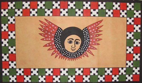 Ceiling Mural Painting (Ethiopian Angel) Arthur Morehead Art-Faux Designs Naples Fl