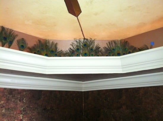 DIning room ceiling peacock feathers Naples Fl Art-Faux Designs 239 417 1888