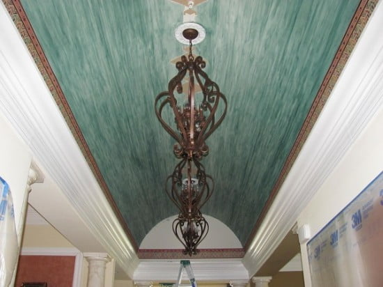 Barrel Ceiling Base Luster Stone Faux Finishing by AFD Naples Fl 239 417 1888