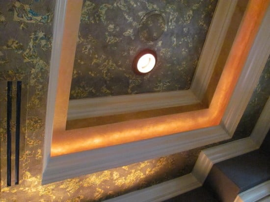 Gold Leaf Bath Ceiling Art-Faux Designs Naples Fl