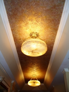 Textured ceiling finishes