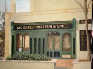 McCabes mural color study Naples Fl artist Arthur Morehead