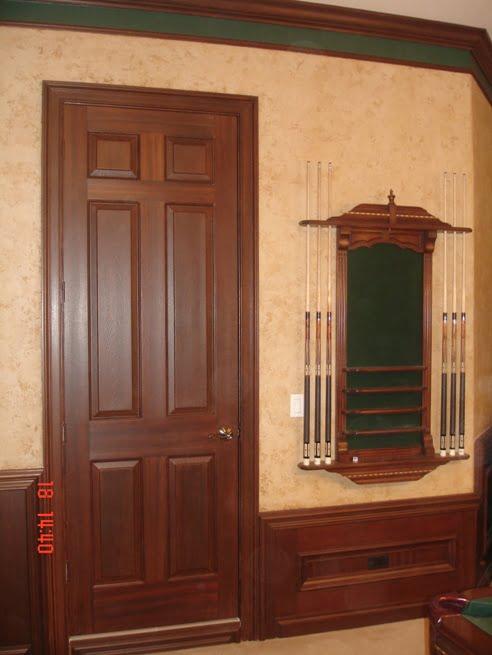 Faux painted Mahogany wood grain