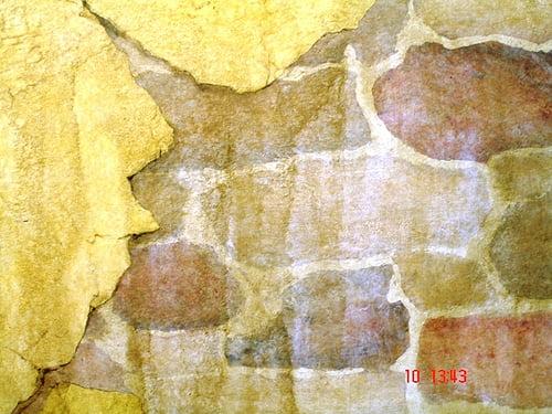 Faux Trompe loeil breakaway stone painting
