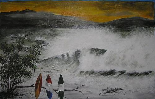 John Arjae Valdez Wall mural (oil)