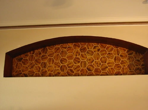 faux finished niche tortoise shell and faux painted wood grain Naples Fl 239 417 1888