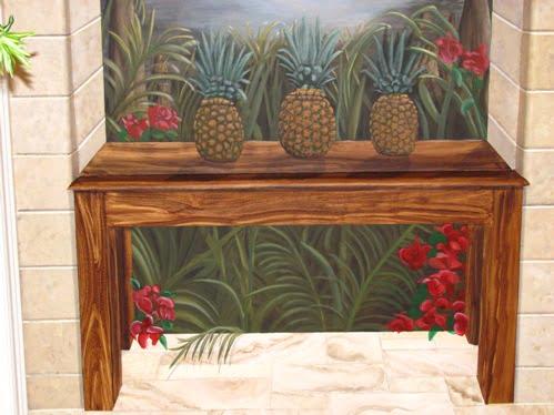 Trompe loeil and murals by Naples artist Arthur Morehead