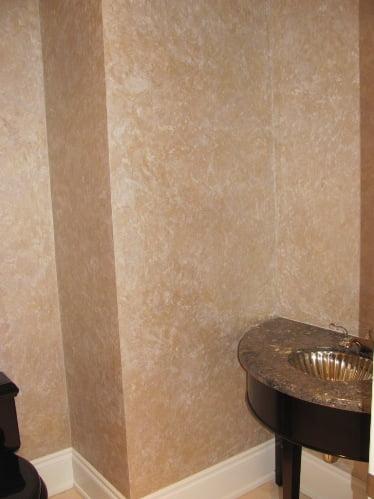 the bathroom faux finish