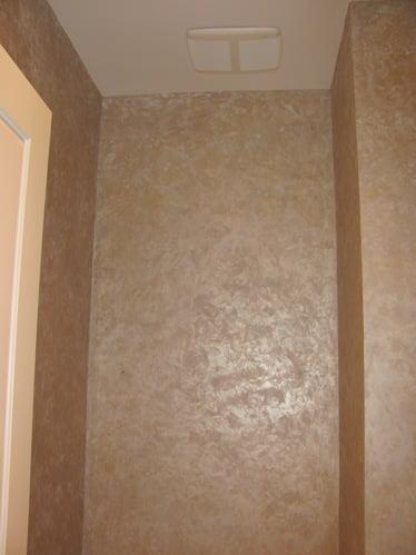 Bathroom faux finish, The Bathroom