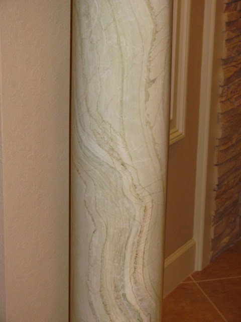 Green Onyx faux finish marble technique by Art-Faux Designs Naples Fl 239 417 1888