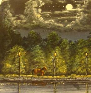 15 min nightime landscape painting