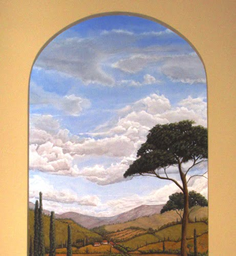 Internet Marketing Art Video for Tuscan Sky Mural by Naples Fl artist Arthur Morehead