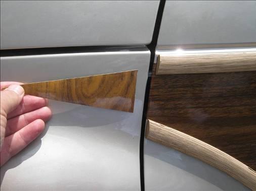 factory match woodgrain fail, collision repair