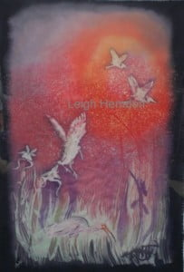 Fine Silk Fabric Wall Art by Leigh Herndon