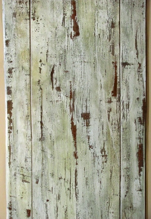 Distressed faux wood panel by Art-Faux Designs Naples Fl 239 417 1888