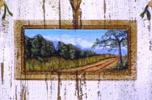 "Landscape Painting on canvas wall art murals, 2"" x 3"" artist Arthur Morehead"