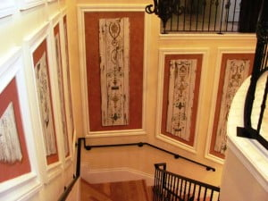 Painting wall art murals, staircase Gray Oaks