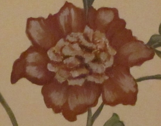Mural Red Flower Detail Naples Fl. artist Arthur Morehead