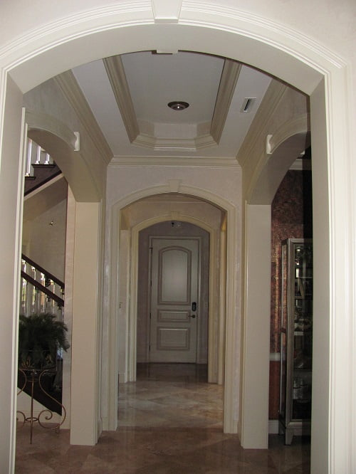 Naples Fl Faux finished hallway Luster Stone